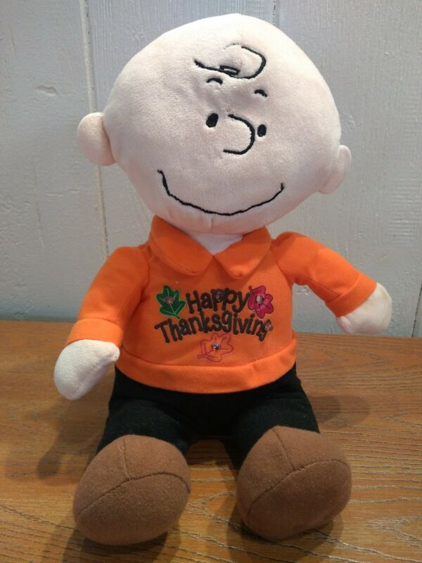Happy Thanksgiving Charlie Brown Musical Dance & Light Up Plush Stuffed Motion