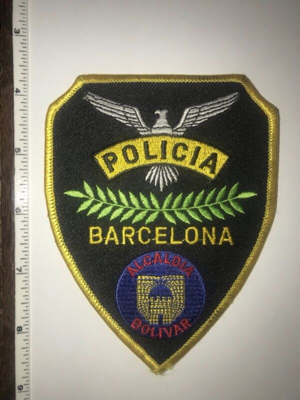Barcelona Spain Policía Police Shoulder Patch New