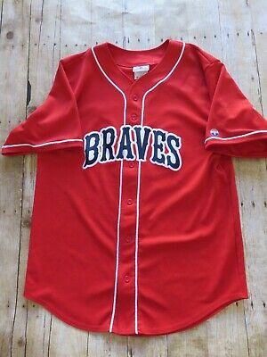 Braves Athletic Wear Uniform Red Jersey Baseball Shirt Atlanta Red #17 Size XL  Athletic Baseball Uniform