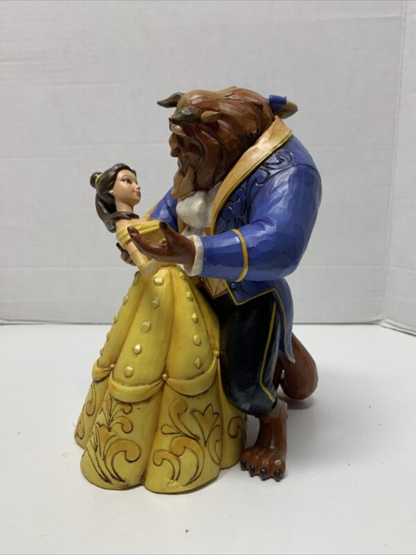 """Jim Shore Disney Traditions Belle Beauty and the Beast Ballroom Dancing 9"""""""