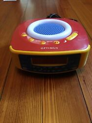 Vintage Optimus CR-316 AM/FM Radio Kids Alarm Clock & Melody Music - tested
