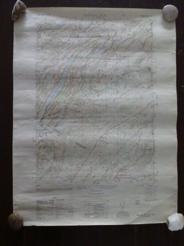 1949 - Large/Antique Map of Natural Dam, New York - Army Map Service