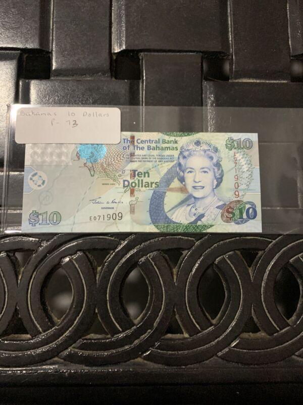 BAHAMAS,10 DOLLARS, QEII,P#73a, , 2005 Unc