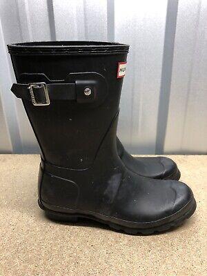 Hunter Wellies Wellington Boot Short Uk 5 Black