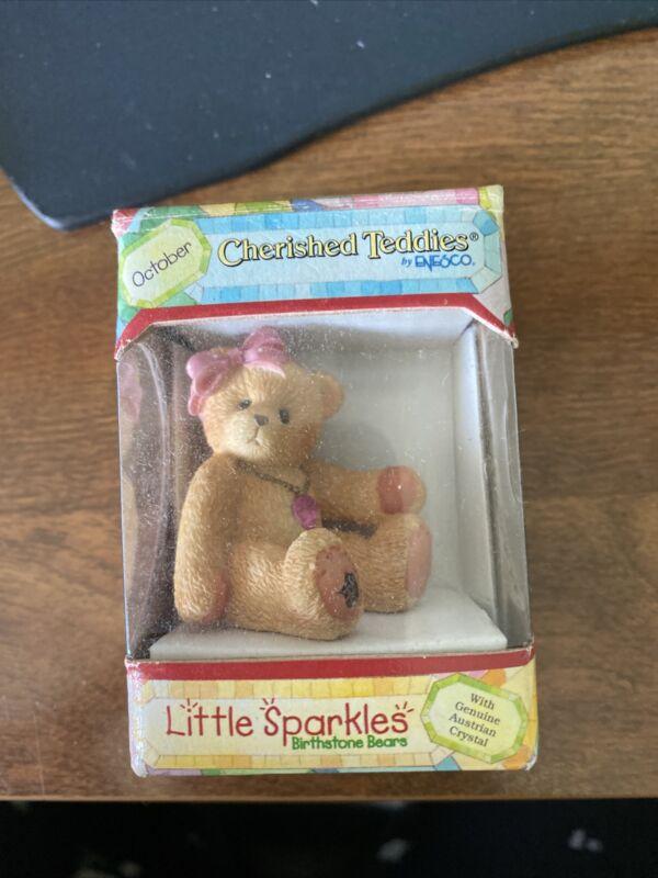 Cherished Teddies Little Sparkles October Bear 1996 NIB