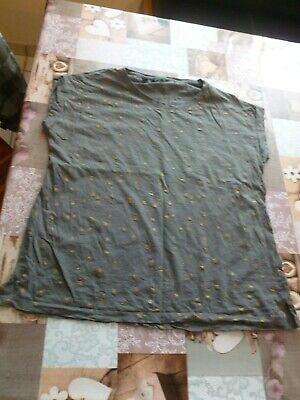 T-Shirt, Top, grau Sterne gold, bpc, Gr. 40/42 M