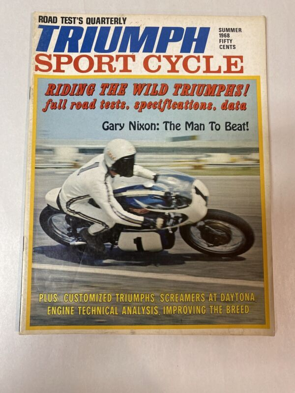 TRIUMPH Sport Cycle Motorcycle Magazine Summer 1968 - Gary Nixon Cover