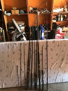 Assorted fishing rods Sylvania Sutherland Area Preview