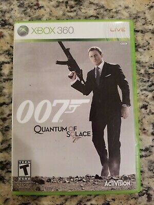 JAMES BOND 007: Quantum of Solace - Xbox 360 Game NO MANUAL TESTED FREE S/H