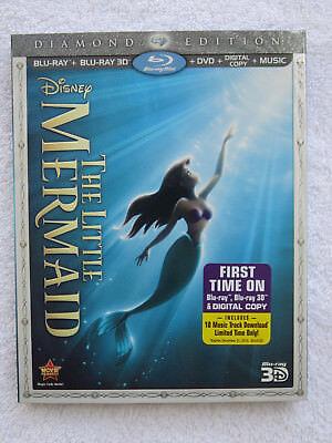 The Little Mermaid (3D Blu-ray/Blu-ray/DVD/Digital Copy, Diamond Ed) w/Slipcover