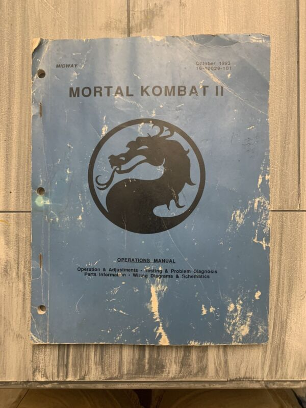 Mortal Kombat II Arcade Machine Manual