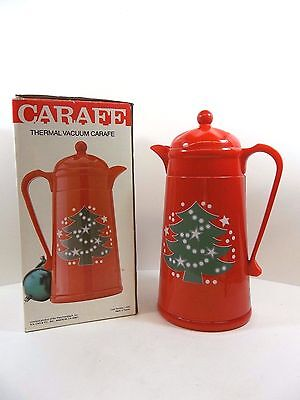 Waechtersbach Red Christmas Tree Insulated Plastic Carafe Thermos Coffee Large - Plastic Carafe