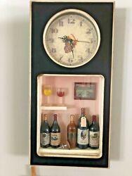 3-D Shadow Box Wall Clock with Wine Theme