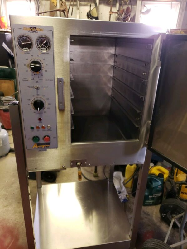 Electric Accutemp commercial steam & hold convection steamer w/ cart- ship avail