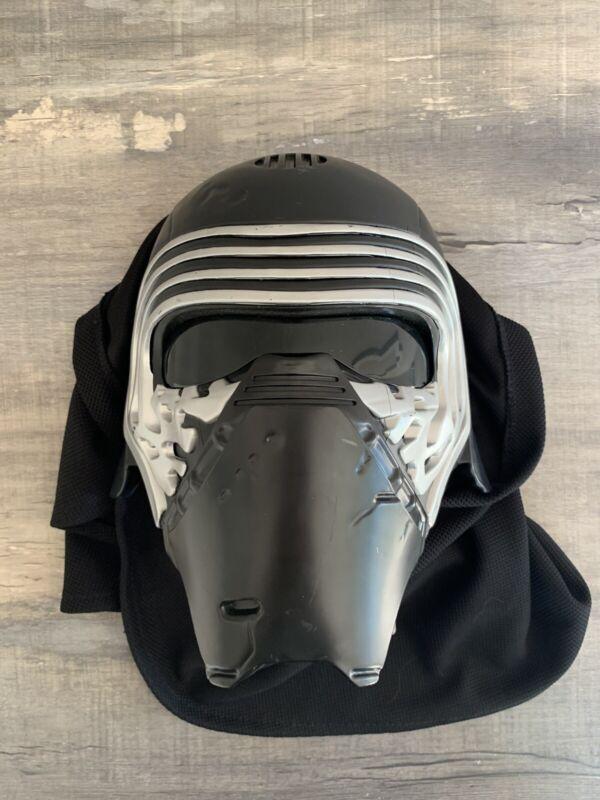 Star Wars Disney Store Kylo Ren Voice Changing Mask with Sound FX Hood Works