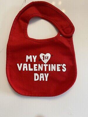 My First Valentines Day Baby Bib 1st Valentine Infant