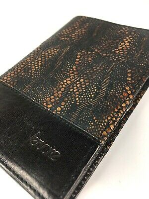 GIANNI VERSACE VINTAGE '89 PYTHON LEATHER WALLET MEN BIFOLD PURSE BROWN ITALY
