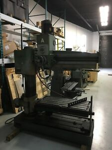 4' EMA radial arm drill press 575v