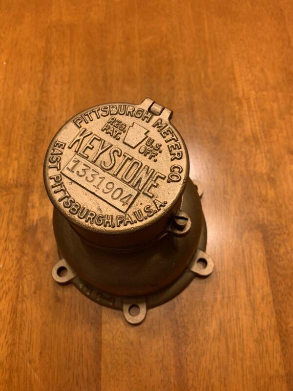 vintage Brass Water Meter Pittsburgh Meter Co. USA, steampunk