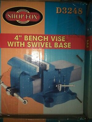 Shopfox 4 Bench Vise With Swivel Base Itemd3248