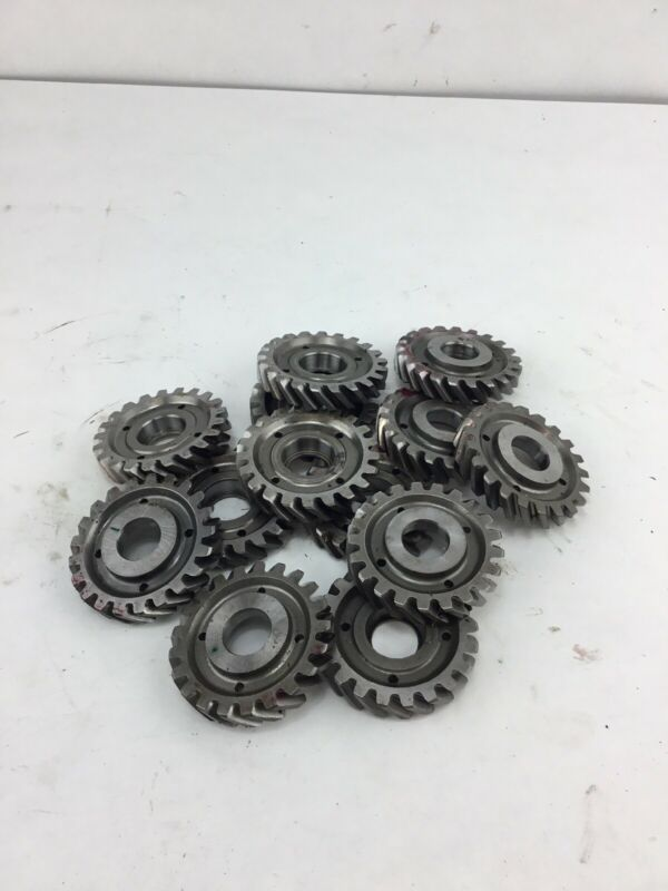 Lot Of 13 Industrial Machine Steampunk Pulley Gear Cog Lamp Base