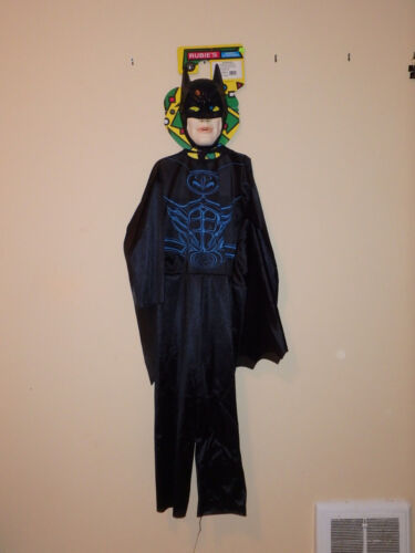HALLOWEEN BATMAN RUBIES FABRIC COSTUMES WITH MASK CHILDRENS LARGE BATMAN & ROBIN