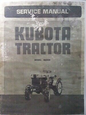 Kubota B6000 Diesel 4x4 Farm Tractor Major Overhaul Service Repair Shop Manual