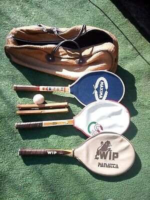 Borsa di Tennis, tennis bag / vintage / tre racchette vintage, anni 80