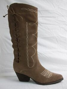 reba size 6 m band leather knee high boots new womens