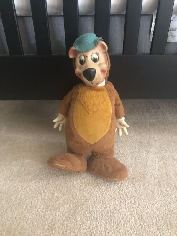 Vintage 1959 YOGI BEAR Plush Toy Rubber Face / hands Knickerbocker (Used)