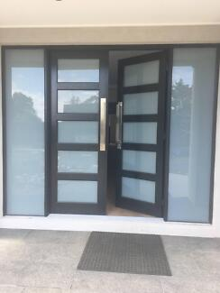 Corinthian Double Front Doors with Translucent Glass