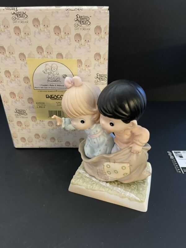 Precious Moments 1999  I Couldn't Make It Without You 635030 Boy And Girl