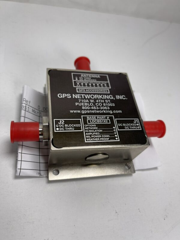 1.1 GHz to 1.7 GHz. GPS/GLONASS/GNSS L-band Amplified Antenna Splitter LDCBS1X2