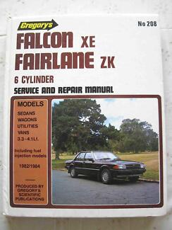 FORD FALCON XE FAIRLANE ZK #208 GREGORY'S SERVICE REPAIR MANUAL Wollongong Region Preview