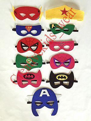 Superhero mask KIDS Costume play hero dress up UNISEX  One size fits all **NEW** - Kids Super Hero Costume