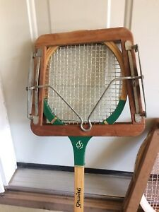 Vintage tennis, squash, racket ball and holders $15