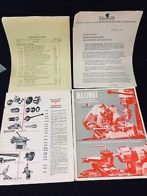 1962 Edelstaal Maximat Miniature Machining Tool Sales Brochure More