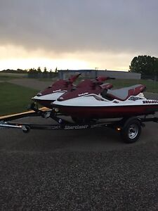 2.   1998 bombardier GTX  limited Seadoo's and 2015 trailer
