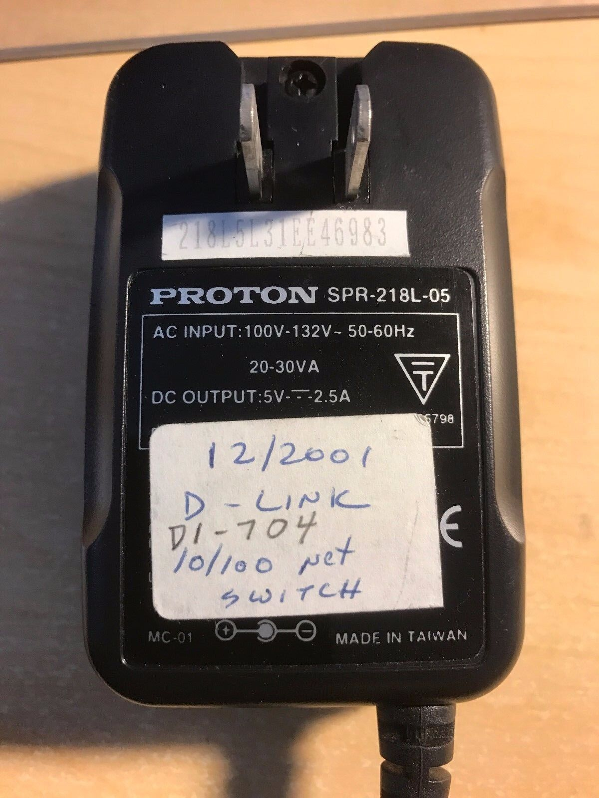 Proton Model SPR-218L-05 AC - Adapter / Charger