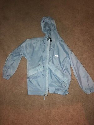 Blue Ultra Light Waterproof Rain Jacket Youth Size S (7)