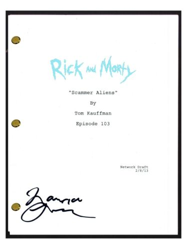 Maurice LaMarche Signed Autographed RICK AND MORTY Scammer Aliens Script COA
