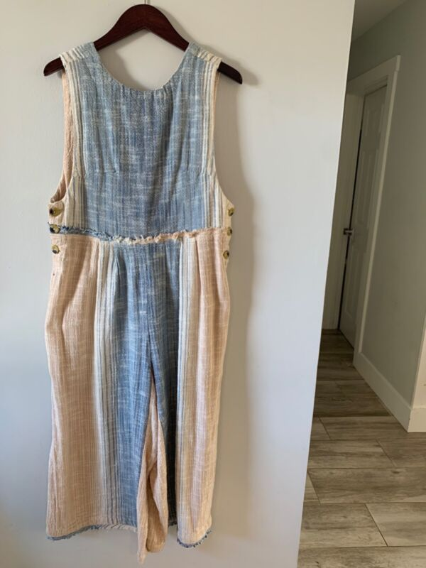 free people jumpsuit wide leg size small