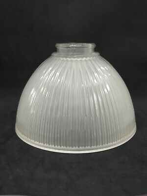 Retro Pendant Shade Ribbed Line Pattern Frosted Glass Ceiling Lamp Light Shade