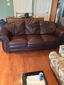 Burgundy Leather Sofa As Is $95