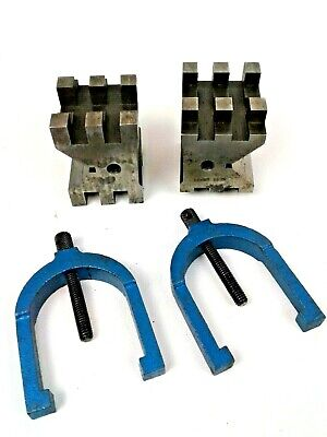 Fowler 52-475-555 Hardened Steel V-block Set Clamps 2h X 2.75l X 2w
