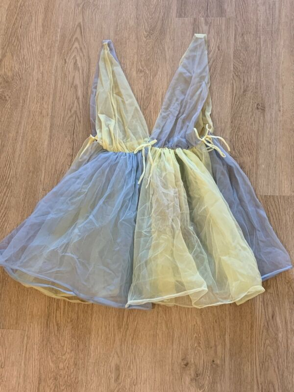 Vintage Babydoll Camisole Mini Dress Lingerie Two Tone 1960's