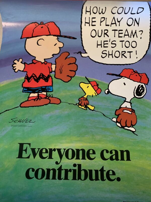 Peanuts Snoopy Super Rare 17x22 Poster Everyone Can Contribute