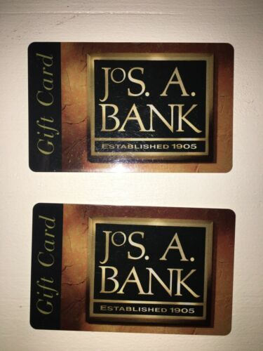 Jos A. Bank Gift Card $400   2 $200 each Free Priority Shipping USPS
