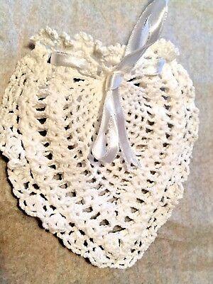 Small Cotton Lace Heart Bags, Favor, Potpourri, Sachet, Wedding, Party Gifts ()