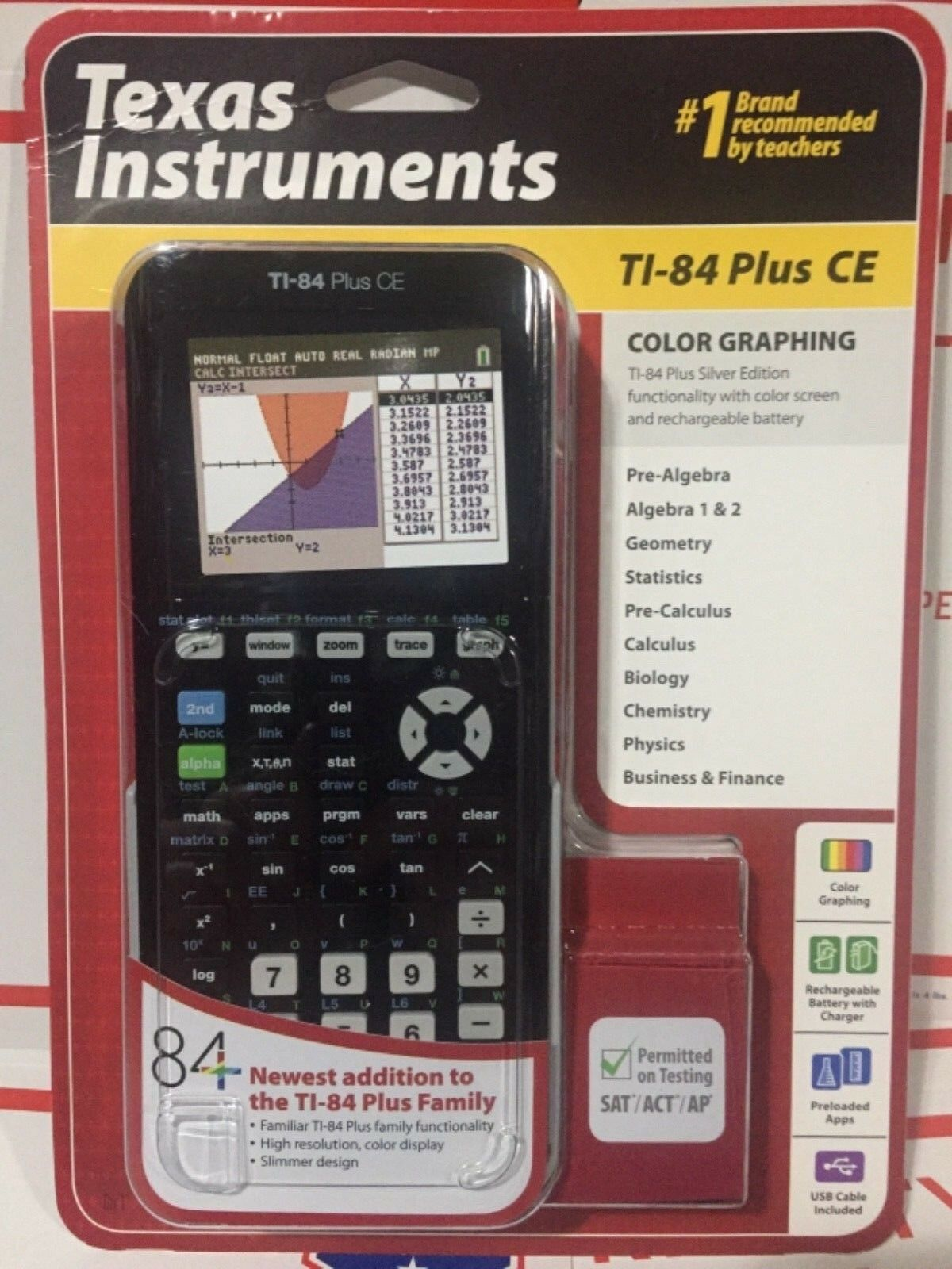 TEXAS INSTRUMENTS TI-84 PLUS CE COLOR GRAPHING CALCULATOR  N